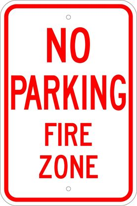 Picture of No parking fire zone