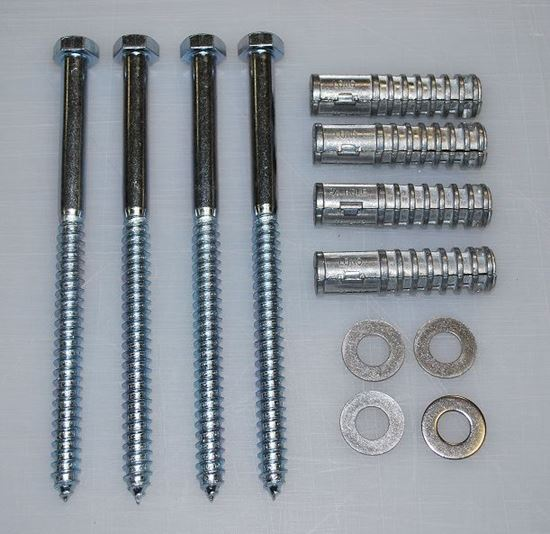 "Picture of 8"" Lag Bolt and Shield Kit (4 per kit)"