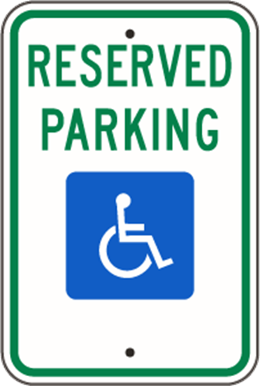 Picture of Reserved Parking Handicap -Federal R7-8