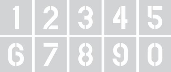 "Picture of Stencil 12"" Numbers Set"