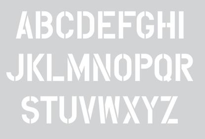"Picture of Stencil 12"" Letters Set"
