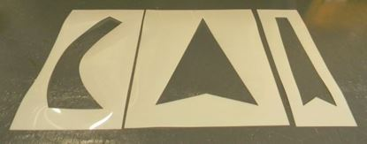 Picture of 3 piece arrow  stencil set