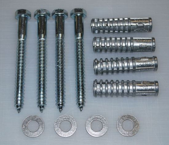 "Picture of 5"" Lag Bolt and Shield Kit (4 per kit)"