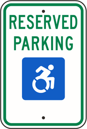 Picture of Reserved Parking Handicap New York State R7-8NY