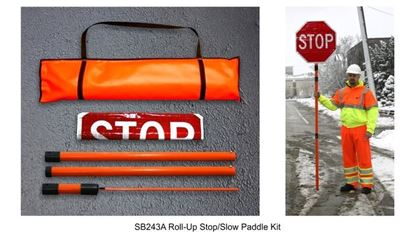 "Picture of Roll Up 24"" Stop/Slow Paddle Kit"