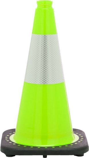 "Picture of 18"" Cone Lime Reflective"