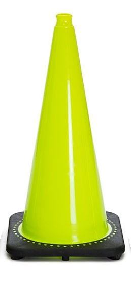 "Picture of 28"" Cone Lime Non-Reflective"