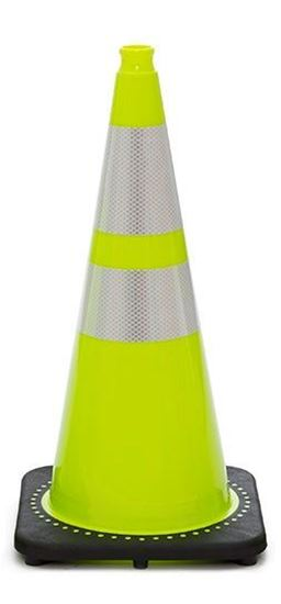 "Picture of 28"" Cone Lime Reflective"