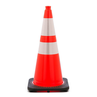 "Picture of 28"" Cone Orange Reflective Traffic Cones"