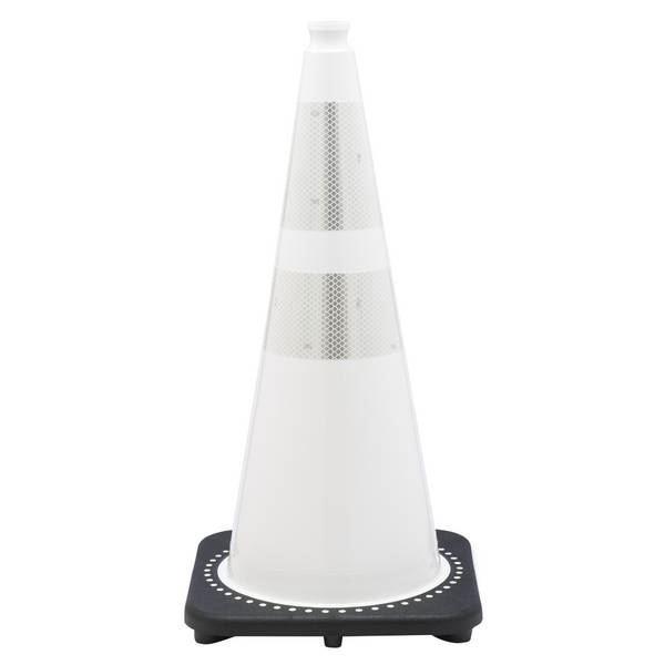 """Picture of 28"""" Cone White Reflective"""