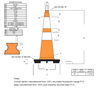 "Picture of 28"" Cone Orange Trim Line Reflective"