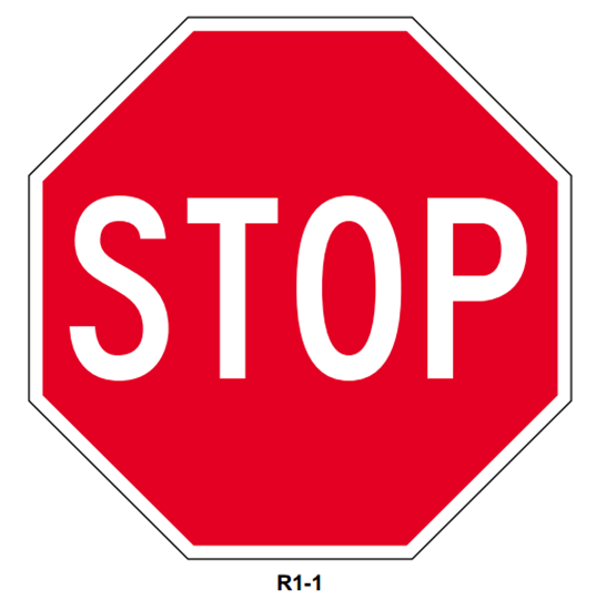 "Picture of 30"" Stop Sign"