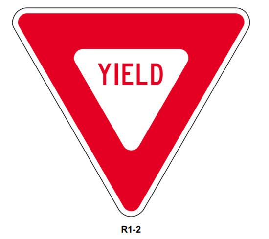 "Picture of 30"" Yield Sign"