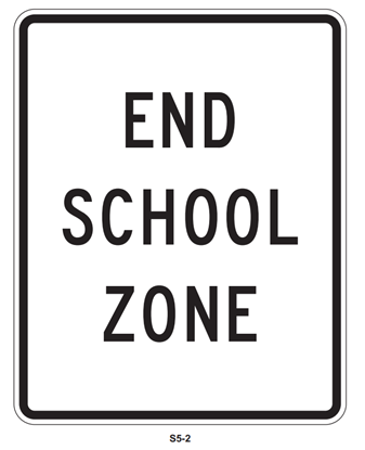 "Picture of 18""x24"" End School Zone"