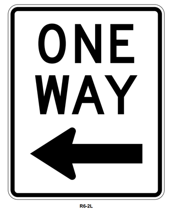 "Picture of 18""x24"" One Way with Left Arrow"