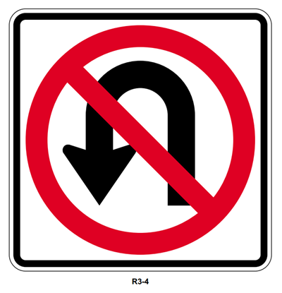 "Picture of 30"" No U Turn"