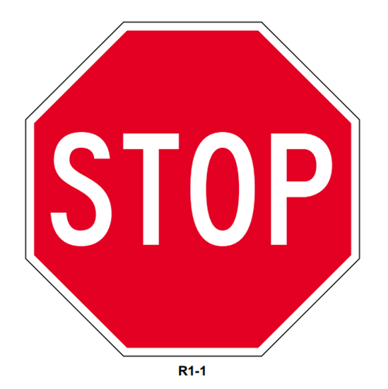 "Picture of 36"" Stop Sign"