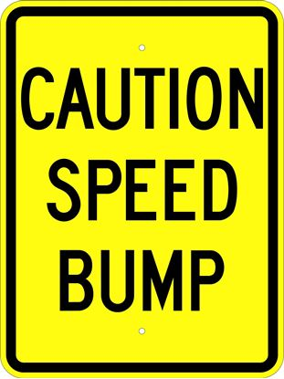 "Picture of 18""x24"" Caution Speed Bump"