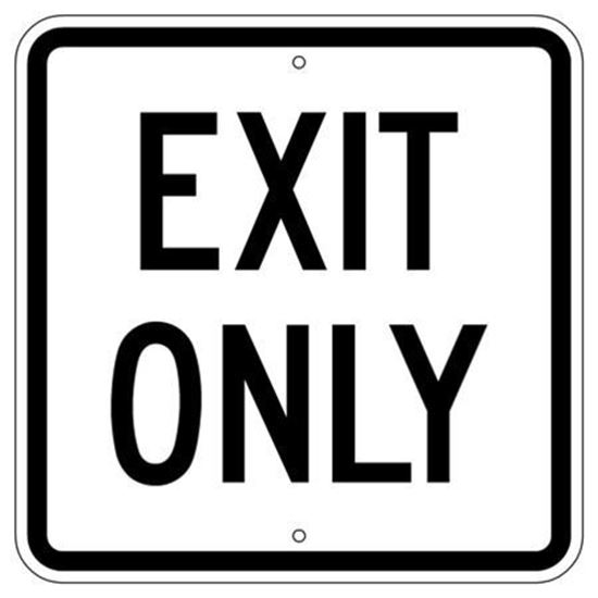 "Picture of 24""x24"" Exit Only Sign"