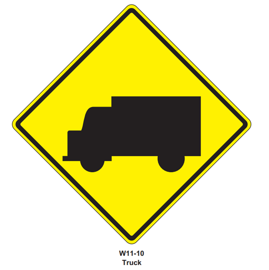 "Picture of 24""x24"" Trucks Symbol"
