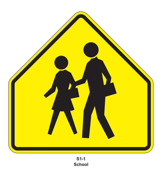 "Picture of 30"" School Crossing- Yellow or FYG"