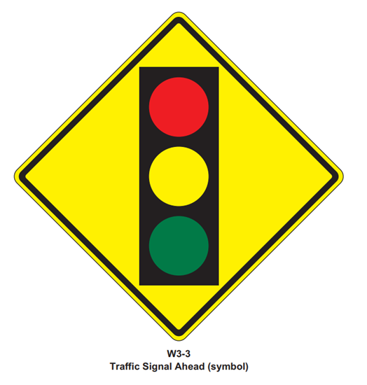 "Picture of 30""x30"" Traffic Light Signal"