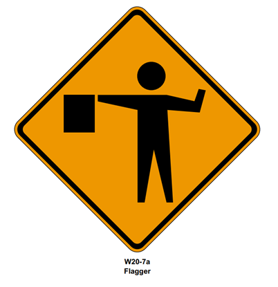 Picture of Roll Up Flagger Symbol