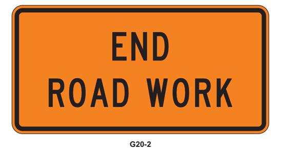 "Picture of 36"" x 18"" End Road Work"
