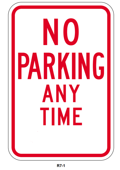 Picture of No parking any time