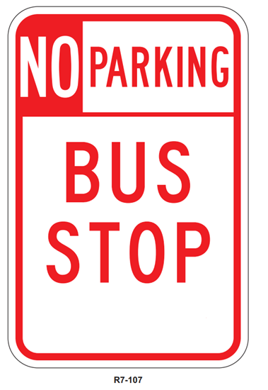 Picture of No parking bus stop