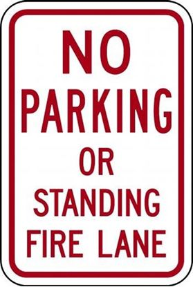 Picture of No Parking or Standing Fire Lane
