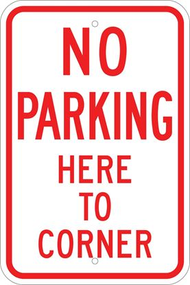Picture of No parking here to corner