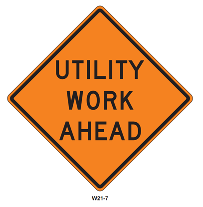 Picture of Roll Up Utility Work Ahead
