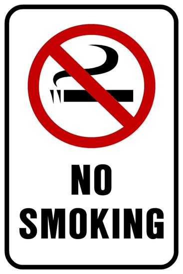 "Picture of 12""x18"" No Smoking"