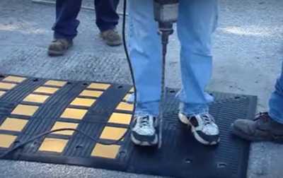 Installation and Use of a Rubber Speed Hump