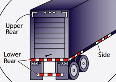 DOT Reflective Tape Placement on Large Truck Trailers