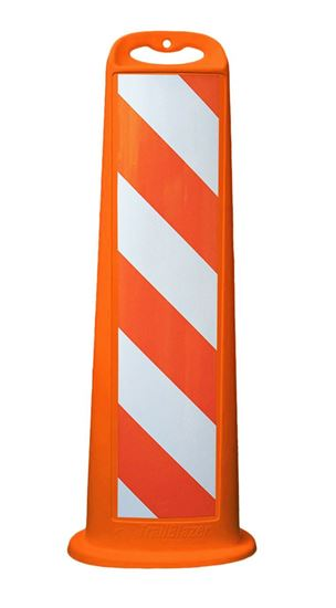"Picture of 40"" Vertical Panel Orange Trailblazer EG Striped Reflective"