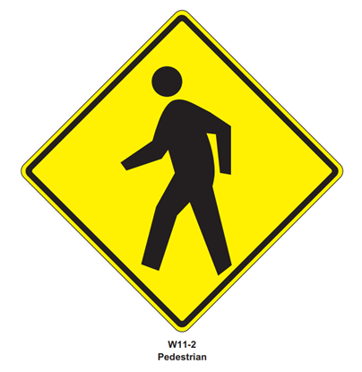 "Picture of 30"" W11-2 Pedestrian Crossing"