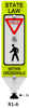 Picture of In Street Impact Recovery Pedestrian Crosswalk Sign IRS