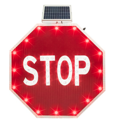 Solar-Powered Traffic Signs Improve Safety and Save Energy