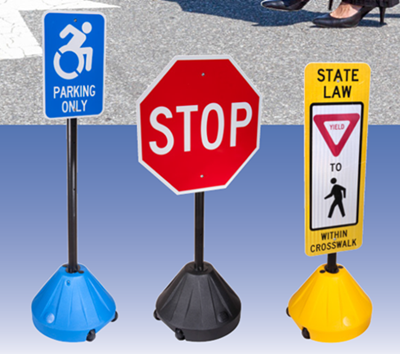 Portable Sign Bases Let You Place Signage Where You Need It, When You Need It