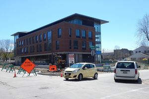 Using Detour Signs to Direct Traffic on Campuses and in Parking Lots