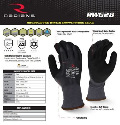 Picture of High visibility gloves RWG 28
