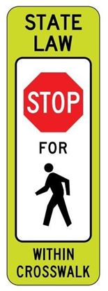 "Picture of 12""x 36"" R1-6A Stop For Pedestrian Crossing"