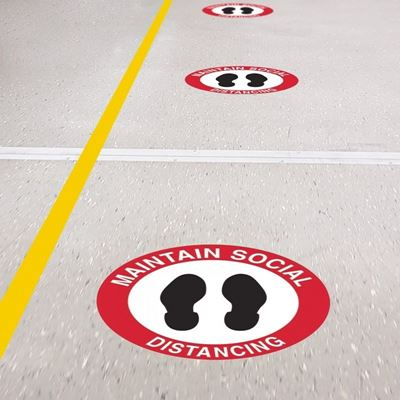 Floor Graphics for Social Distancing