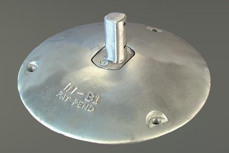 "Picture of Aluminum Sign Pedestal base 15"" diameter- IN81"