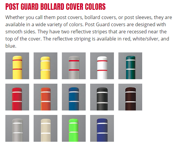 postguard bollard color choices